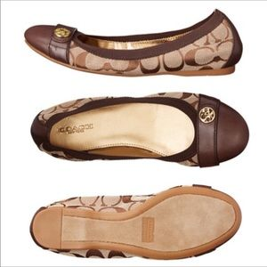Coach Chelsey Ballet Captoe Flats Size 7